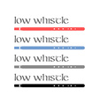 Irish Low Whistles vector image