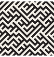 Irregular Maze Lines Seamless Black and vector image vector image