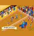 isometric medieval composition vector image