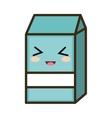 kawaii cartoon milk box vector image vector image