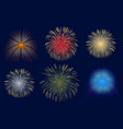 light fireworks on dark background abstract vector image vector image
