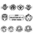logo collection set with sport theme vector image vector image