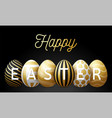 luxury happy easter greeting card a horizontal vector image