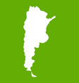 map of argentina icon green vector image