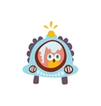 Owl Driving A Car With Blinker Stylized Fantastic vector image vector image