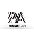 pa p a lines letter design with creative elegant vector image vector image
