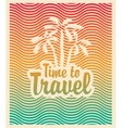 palm trees sea and inscription time travel vector image vector image