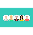 people icons set team concept flat cartoon design vector image