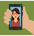 photography selfie style isolated vector image vector image