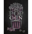 Poster popcorn sweet black vector image vector image