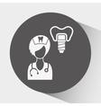 professional dentist design vector image vector image