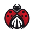 Red and black ladybug or ladybird vector image vector image