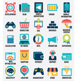 set media service flat icons - part 2 - icons vector image