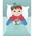 Sick boy vector image vector image