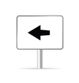 sign with arrow vector image vector image