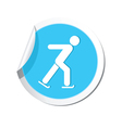 skater icon round blue vector image