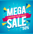 special offer big sale mega sale banner vector image vector image