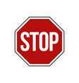 street road sign stop sign vector image