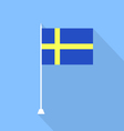 Swedish flag vector image