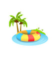 swim tube on beach isolated white background vector image