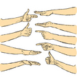 vector human hands isolated vector image