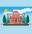 vintage butcher shop store facade with storefront vector image vector image