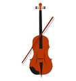 viola instrument on white background vector image vector image