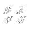 waiting smartphone statistics and refresh bitcoin vector image vector image