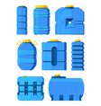water barrels different water tanks isolated on vector image
