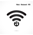 wifi signmusic and restaurant icon vector image