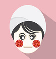 Woman With Tomatoes Pieces On Face vector image