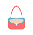 women handbag flat icon blue modern bag isolated vector image vector image