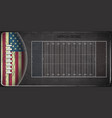 field for game in the american football vector image