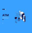 automated teller machine atm terminal vector image