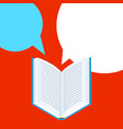 background with open book vector image vector image