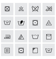 black washing signs icon set vector image vector image
