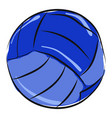 blue volleyball on white background vector image vector image