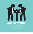 Businessman Arm Wrestling Symbol vector image