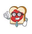 businessman bread with jam character cartoon vector image