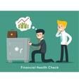 Businessman check financial or money health with vector image vector image