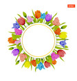 card template in the round frame of multicolored vector image