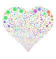 cog fireworks heart vector image