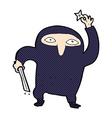 comic cartoon ninja vector image