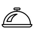cooking tray pot icon outline style vector image vector image