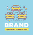 creative of cars with line icons and vector image vector image