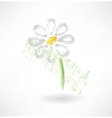 Daisy grunge icon vector image vector image