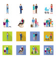 design of character and avatar icon set of vector image vector image