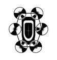 drone toy silhouette icon vector image