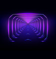 endless futuristic tunnel glowing neon vector image