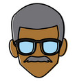 faceless man with glasses vector image